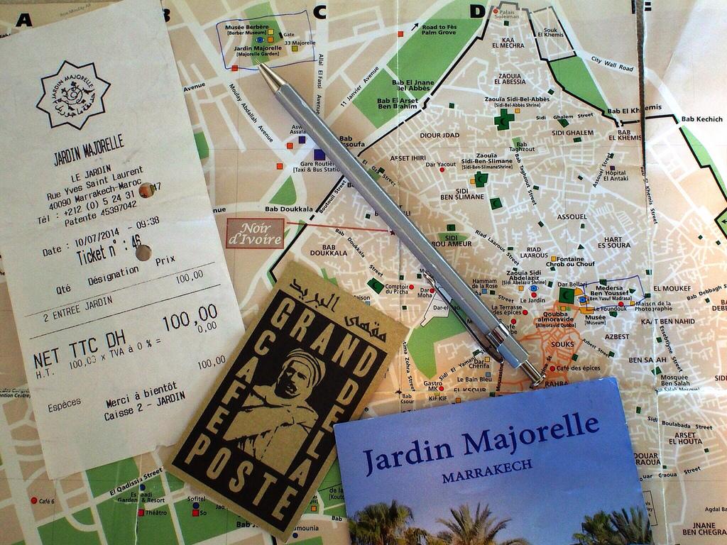 Marrakech map + JardinM + GCdlP