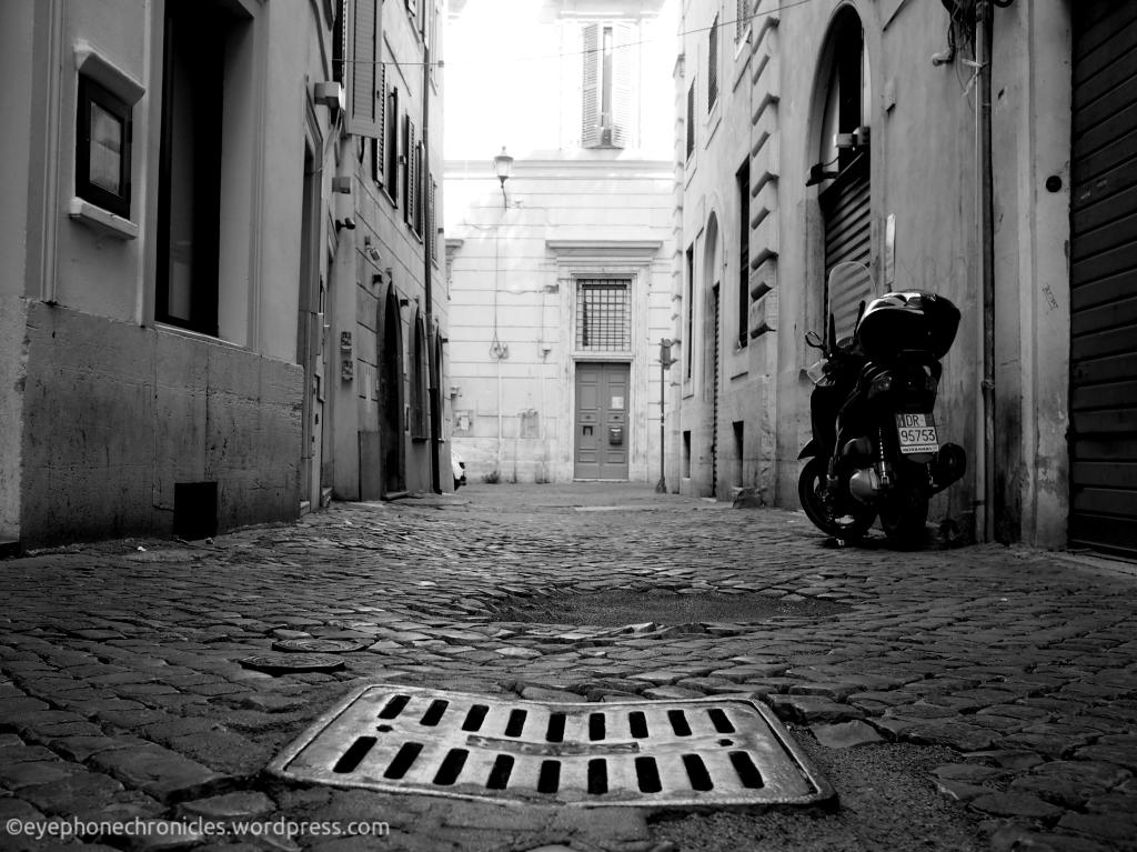 Rome cobbled street